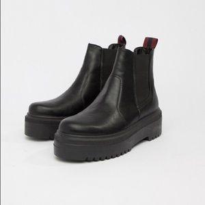 ASOS platform chelsea boots
